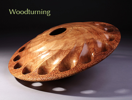 Woodturning Olive Ash Vessel